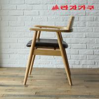 쿠니 고무나무 원목 식탁 의자