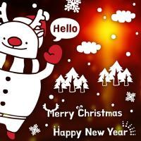 제제데코 크리스마스 눈꽃 스티커 장식 CMS4J227