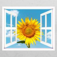 cd332-푸른하늘해바라기01_창문그림액자