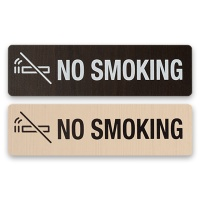 안내표지 표지판 알림판 표찰 금연- NO SMOKING 우드