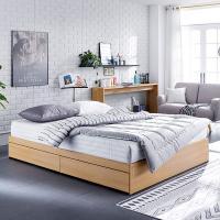 [채우리] 로라 침대 Q_겹면 양면매트리스 포함
