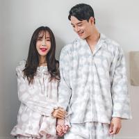 [쿠비카]밍크 양면 극세사 투피스 커플잠옷 WM133