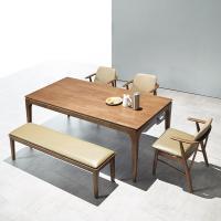 [채우리] 모노 6인 원목 식탁세트(의자/벤치)