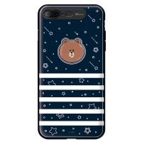 라인프렌즈 iPhone7 + BROWN Face-B LIGHT CASE