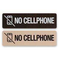 안내표지 표지판 알림판 통화금지-NO CELLPHONE 우드