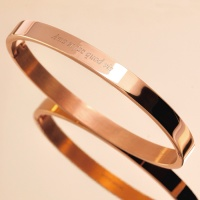 [각인팔찌]6mm Lettering Rose Gold Simple Bangle