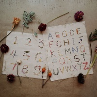 프랑스자수 가랜드 DIY 키트 - 보태니컬 알파벳