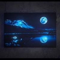 [LED 캔버스 조명액자] 블루 문 & 마운틴