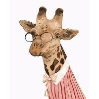 DIY 명화그리기키트 - 기린 아가씨 40x50cm (물감2배, 컬러캔버스, 명화, 동물, 기린, 아가씨)
