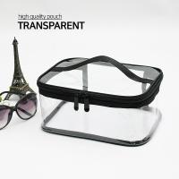 여행용 화장품 가방 투명 파우치 사각 대형