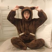 곰돌이 극세사 수면잠옷