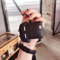 철가루/에어팟 커플 셔츠 실리콘 케이스 1/2 블랙_259