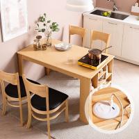 [채우리] 플러그인 4인 수납 식탁 세트(의자)