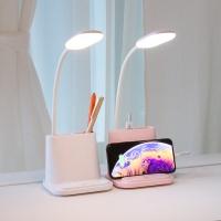 레토 3in1 충전식 LED스탠드 USB선풍기 핸드폰거치대