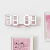 레토 3D 벽걸이 탁상 디지털 LED시계  골드 LLC-P03DG