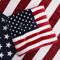 미국 성조기 극세사 방석