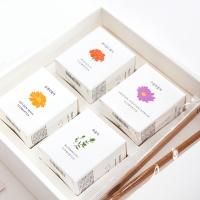 [꽃을담다]미니꽃차 4종세트+쇼핑백