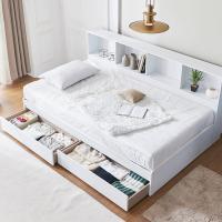 [노하우] 블랑 파티션책장 서랍형 슈퍼싱글 침대