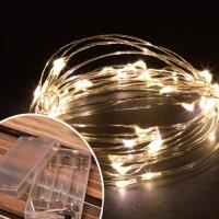 LED 50P 와이어 건전지(밧데리)전구 (웜)