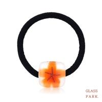 [무료배송] [글라스파크]벚꽃유리 머리끈(오렌지)