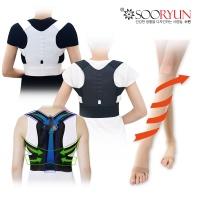 수련케어 바른자세 어깨밴드/허리보호대/압박스타킹