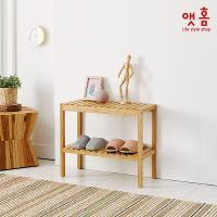 앳홈 원목 벤치 겸 신발정리대(대나무) (중형)