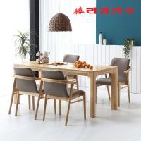 미농 고무나무 원목 와이드 식탁 세트 4인용 의자형 A