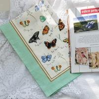 나비(Butterflies) 린넨 티타올