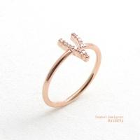 [이자벨미뇽]  위시본 큐빅 반지 RA10091