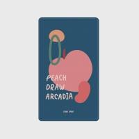 [어프어프] 보조배터리 Peach draw-navy