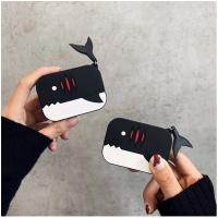 에어팟 3세대 특이한 상어 실리콘케이스_블랙321/프로