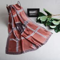 [더로라]실키 스카프- 실키 브라운말 S9074-5
