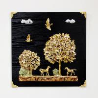 (kdyg008)행복나무 말 벽장식(50x50)