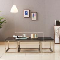 [보루네오 하우스] 아르메 리얼스톤 화산석 소파 테이블(대)