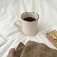 모던뉴욕 브라운머그컵 (커피잔, 홈카페용)
