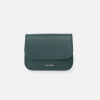 Dijon N301R Round Card Wallet olive green