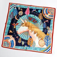 [더로라]70정사각 실크스카프-왕관쓴 유니콘 S20114