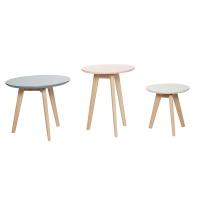 [hubsch]Table round s/3 원목테이블셋트880116