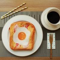 이런 식빵 토스트 파우치 필통-에그베이컨 토스트