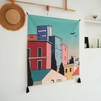 올드스타일 일러스트 패브릭 포스터 / 가리개 커튼