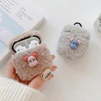 에어팟프로 3세대 곰 데코 털 패브릭 실리콘 케이스
