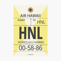 에어라인택 포스트카드 엽서 - Hawaii