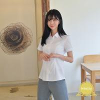 [빅사이즈] 프리미엄 여자 반팔 셔츠 (각카라) ~4XL