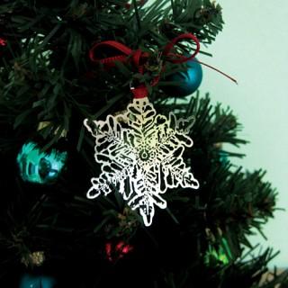눈송이 - 크리스마스 기념 은도금 북마크