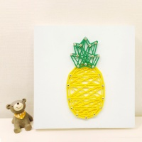 파인애플 스트링아트 만들기 패키지 DIY (EVA)