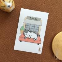 도로보우네코 쉬는 고양이 사각 스티커