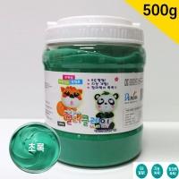 컬러 클레이 장난감 점토 초록 대용량 500g