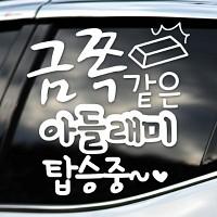 금쪽같은 아들래미 탑승중 - 초보운전스티커(NEW015)
