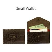 다크브라운 미니지갑 - 카드, 지폐 수납