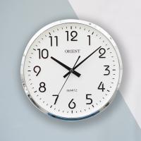 오리엔트 무소음 OT632 크롬 미니돔 인테리어벽시계
